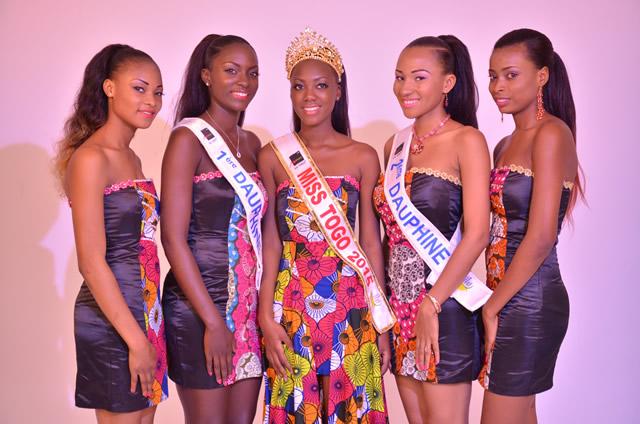 Les gagnantes de miss togo 2015